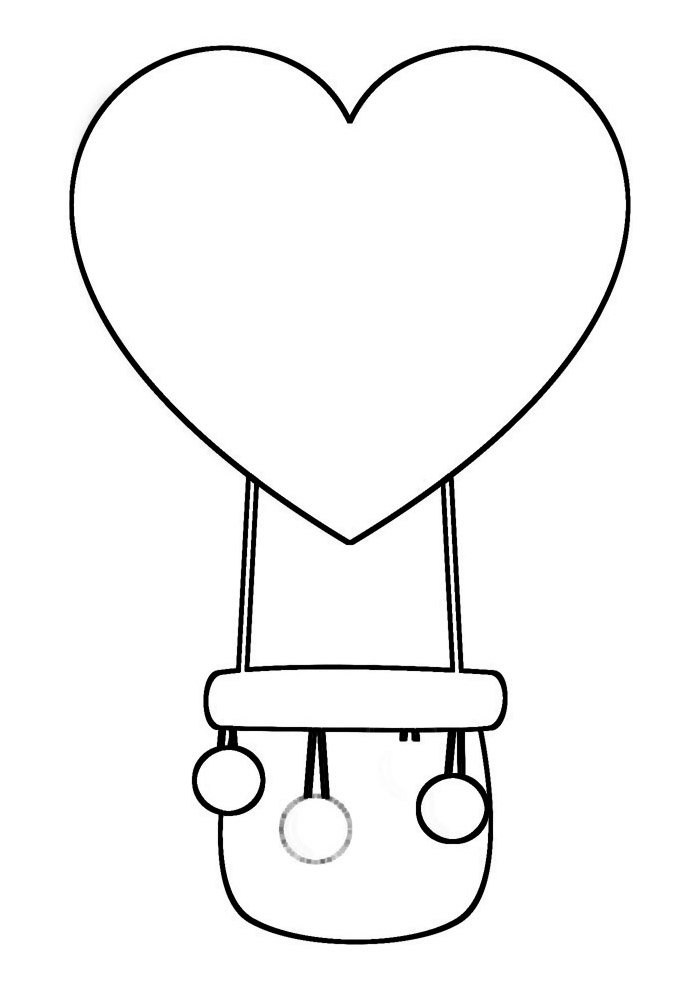 balloon coloring page 17