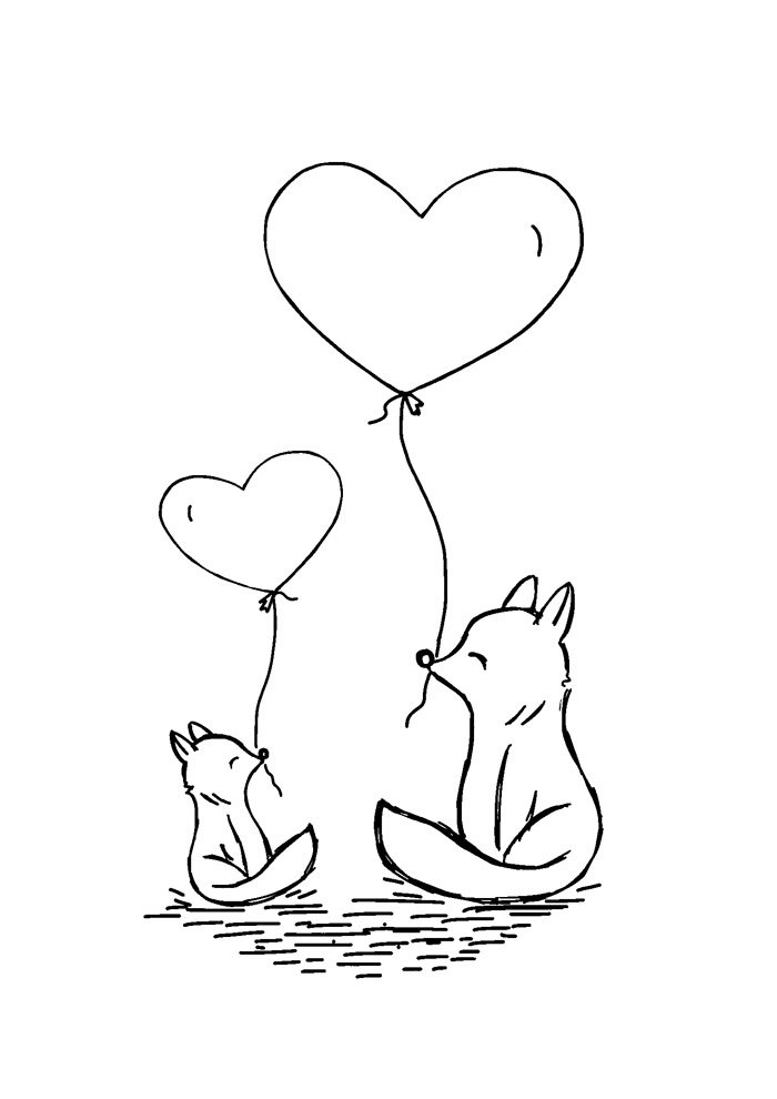 balloon coloring page 25