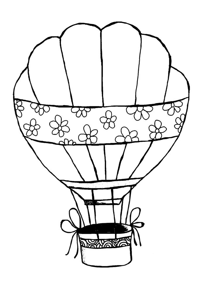 Balloons Coloring Pages | 990x700
