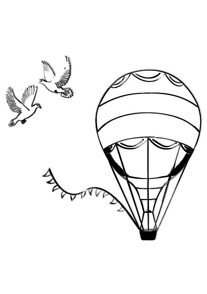 balloon coloring page 29