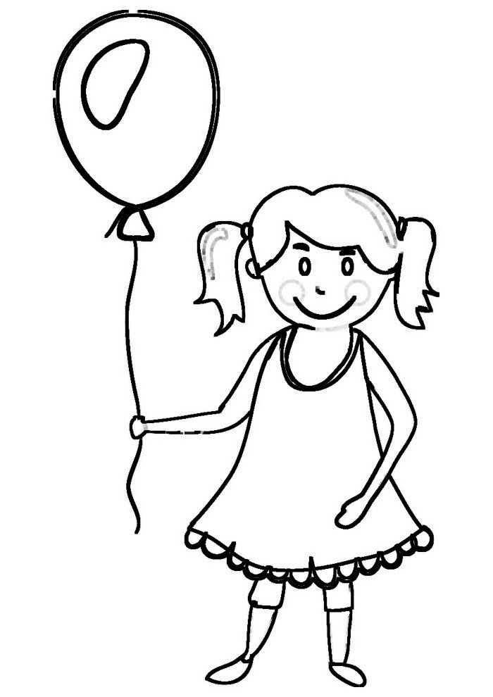 balloon coloring page 3