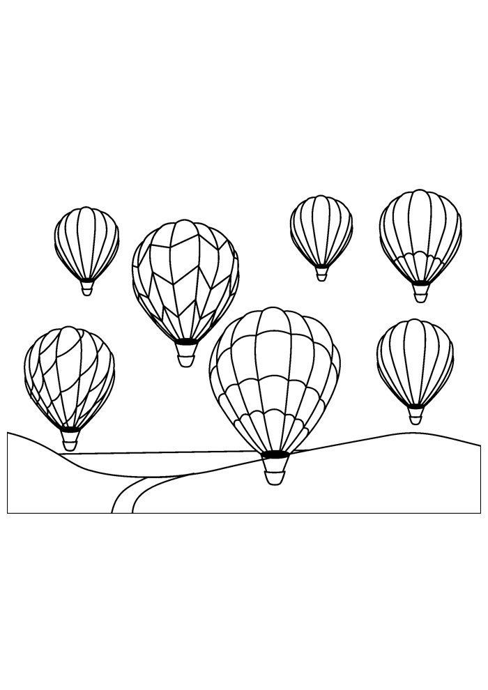 balloon coloring page 5