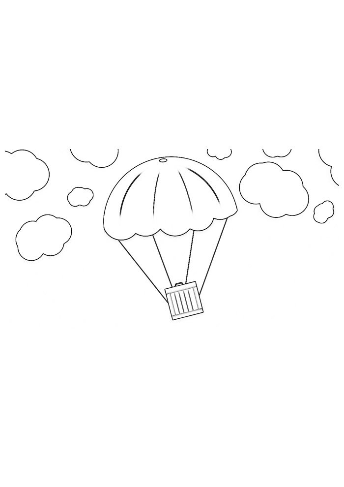 balloon coloring page 9