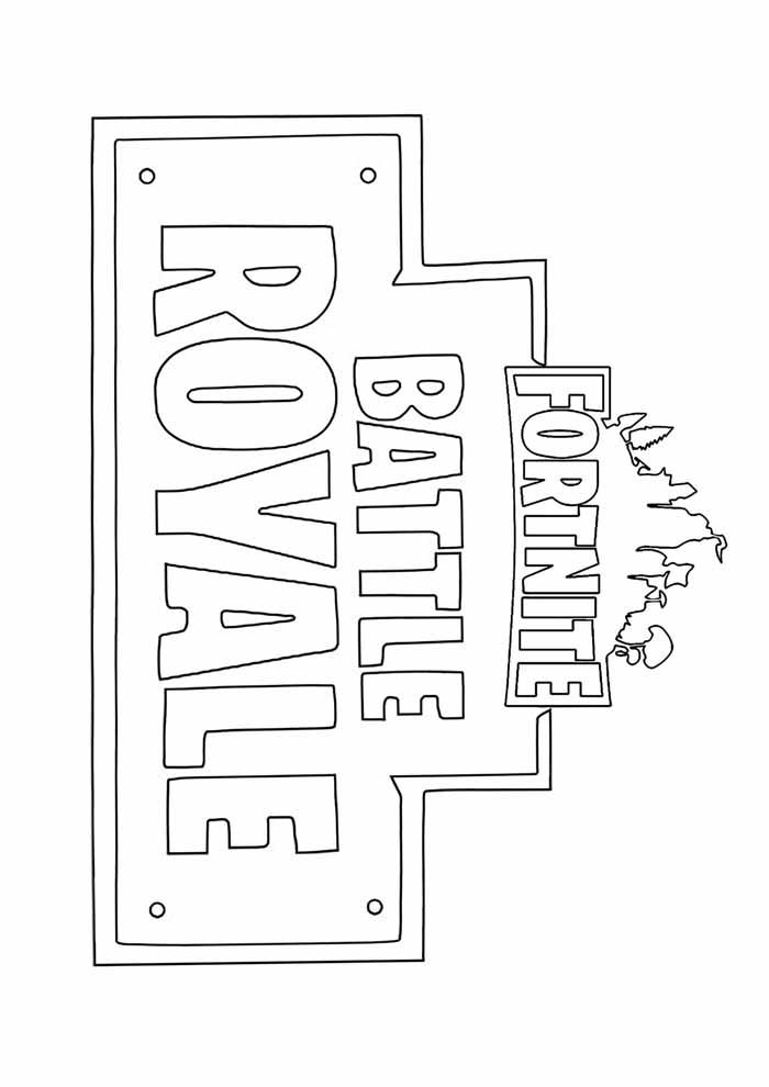 battle royale fortnite coloring page