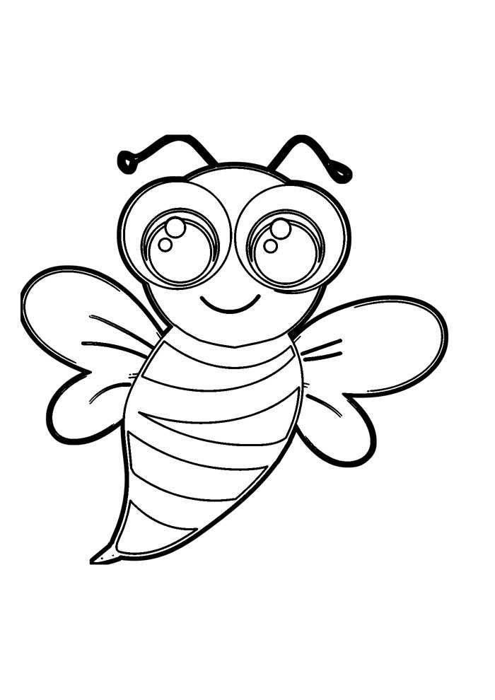 bee coloring page 10