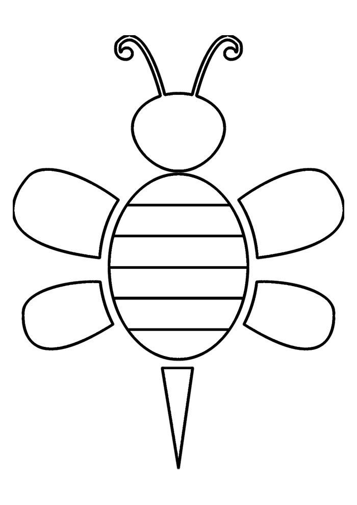 bee coloring page 11