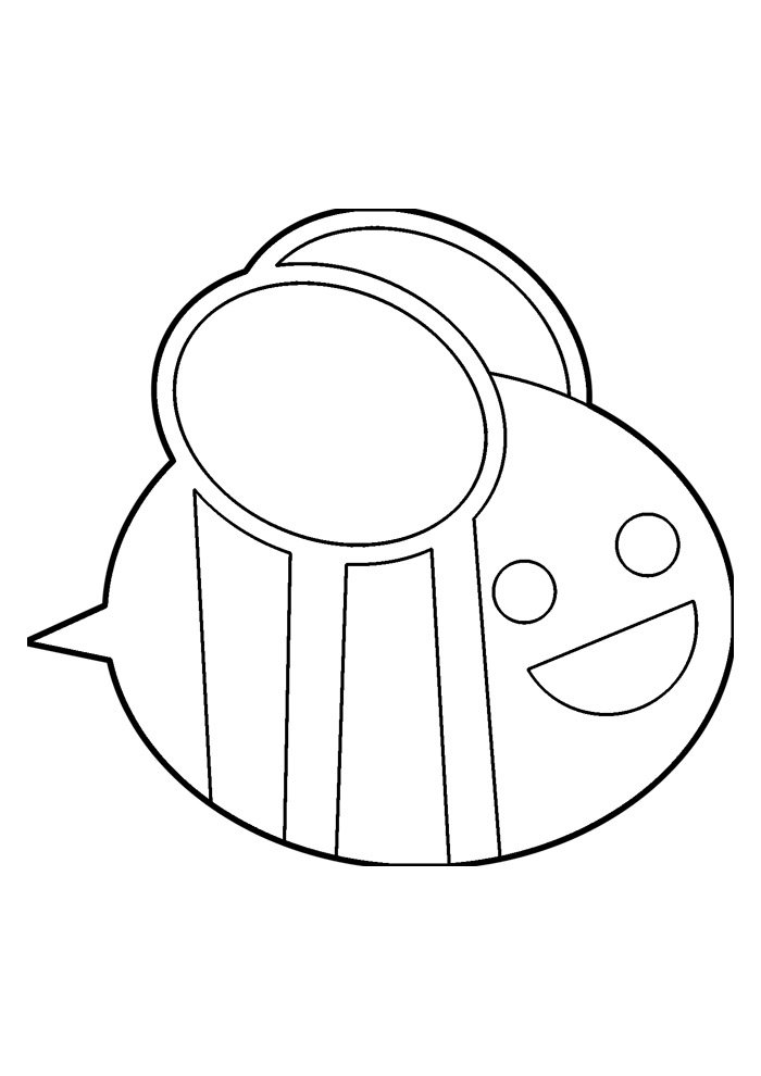 bee coloring page 12