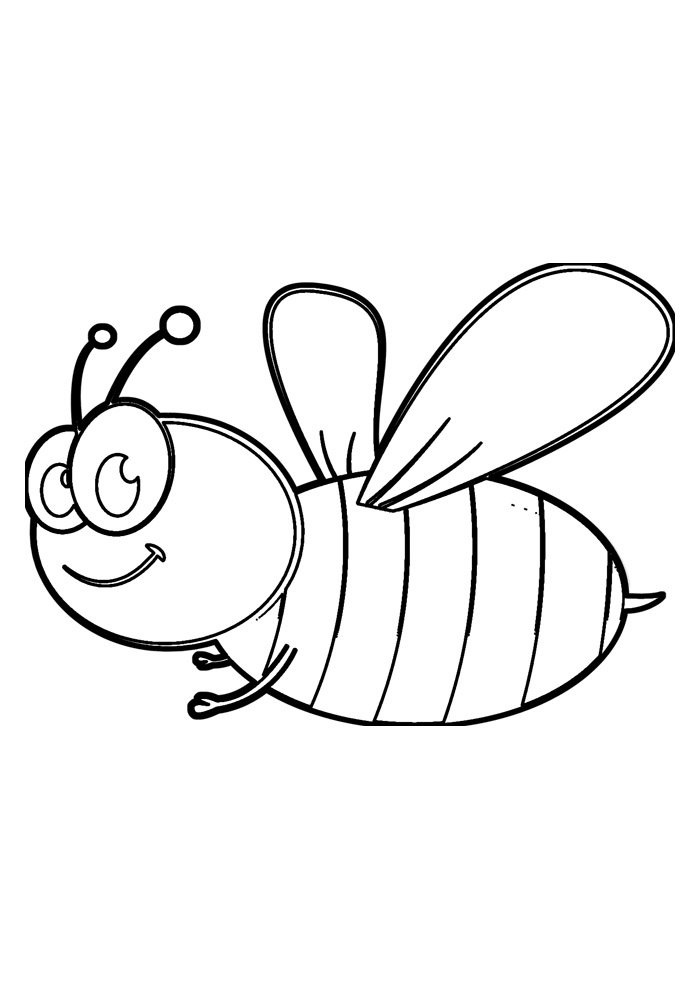 bee coloring page 13