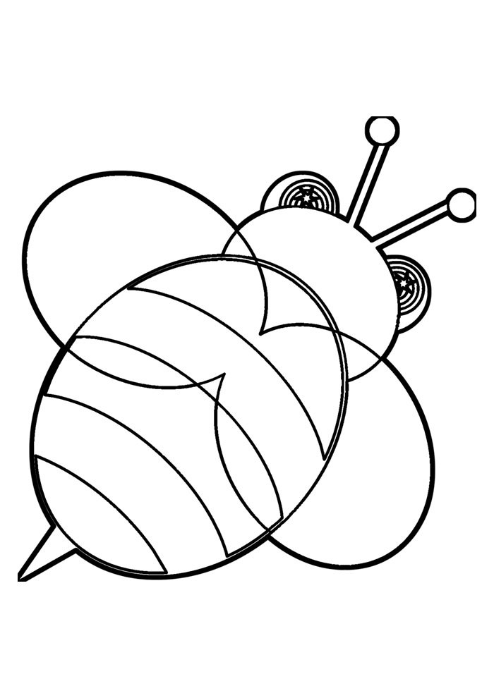 bee coloring page 15