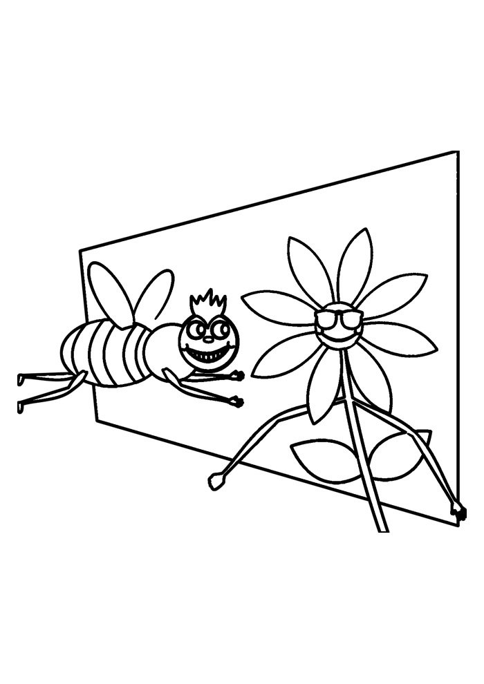 bee coloring page 16