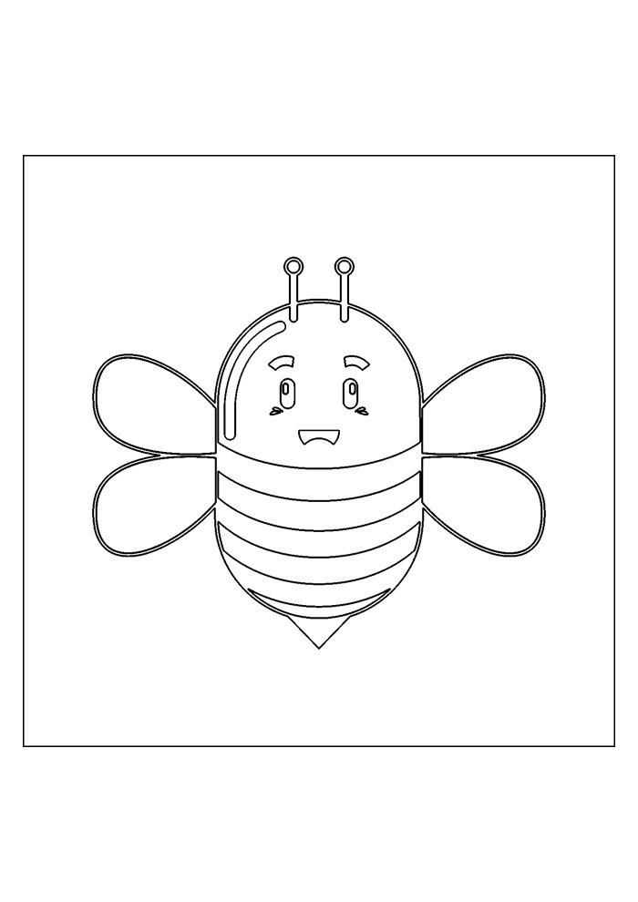 bee coloring page 17