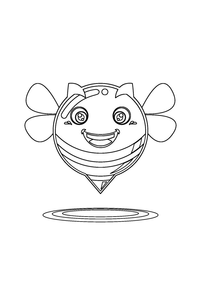 bee coloring page 18