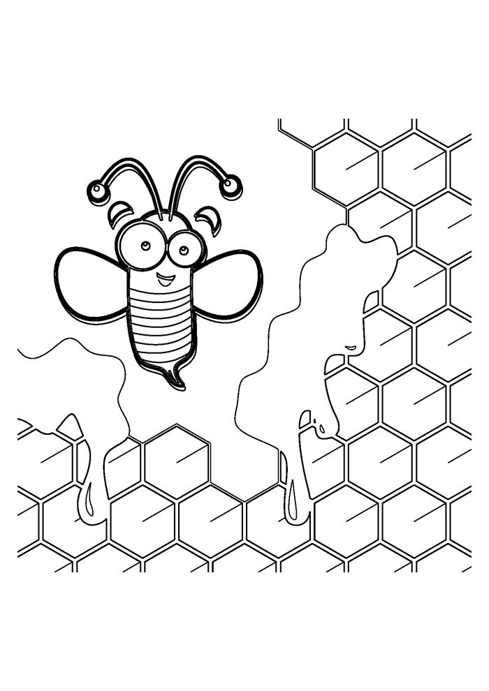 bee coloring page 20