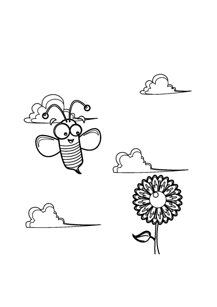 bee coloring page 21