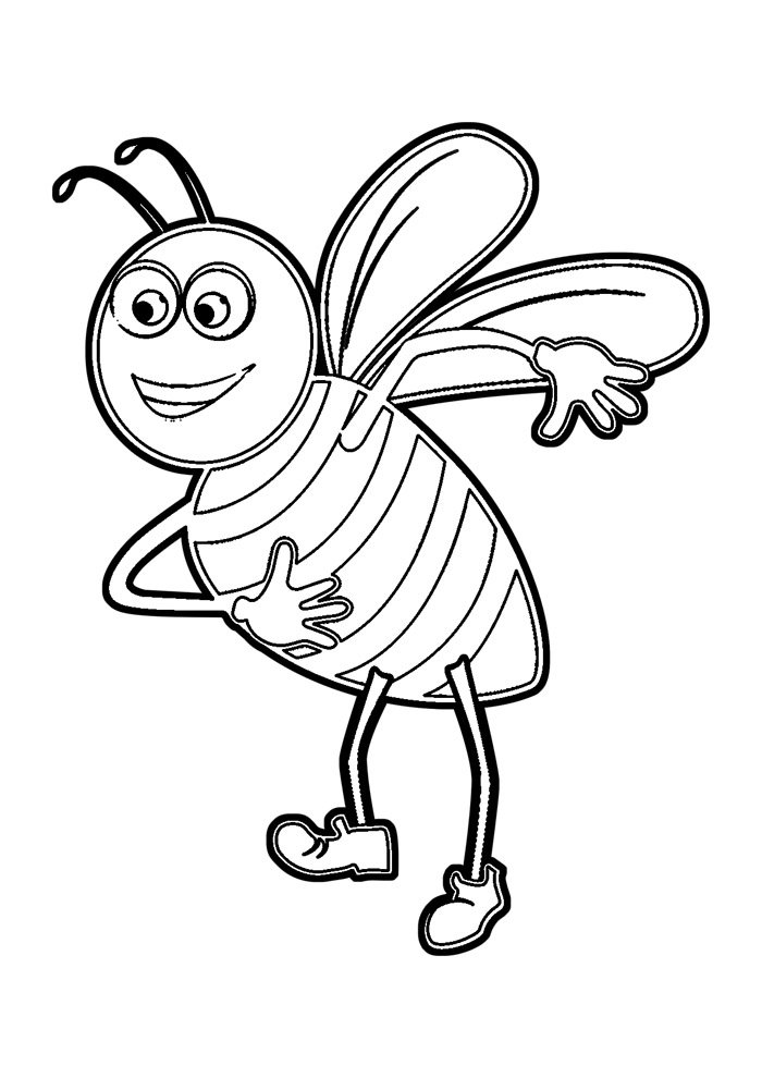 bee coloring page 24