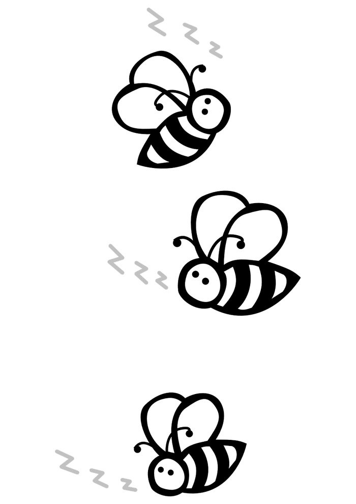 bee coloring page 25