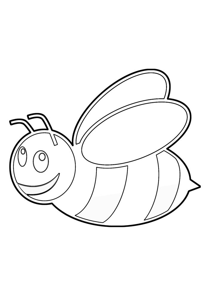 bee coloring page 26