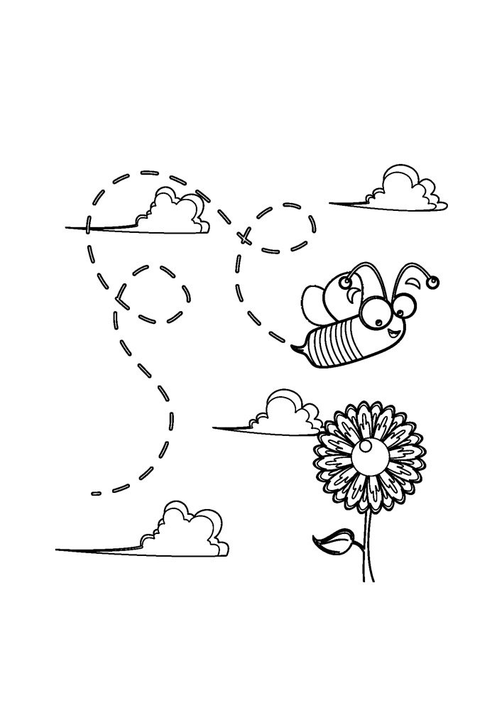 bee coloring page 30