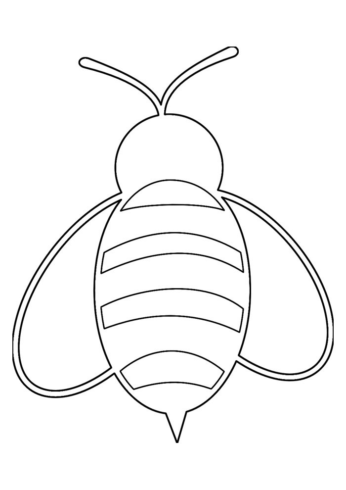 bee coloring page 32