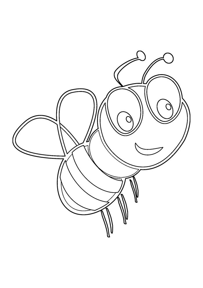 bee coloring page 33