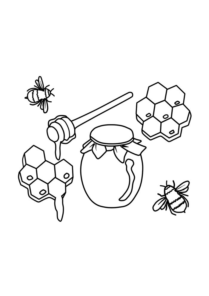 bee coloring page 34