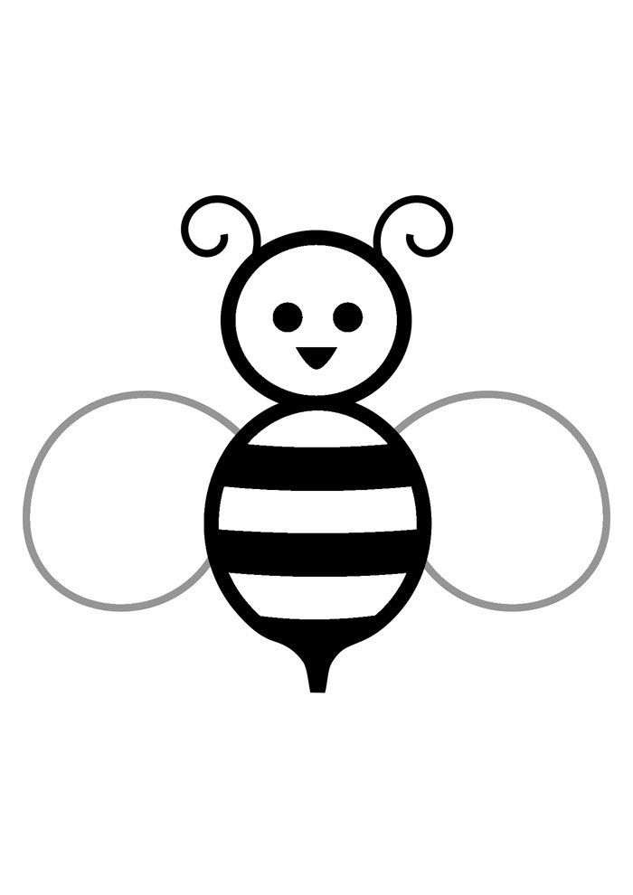 bee coloring page 35