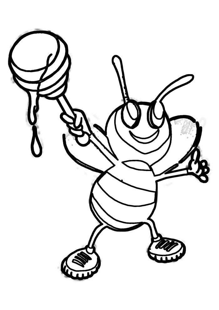 bee coloring page 36