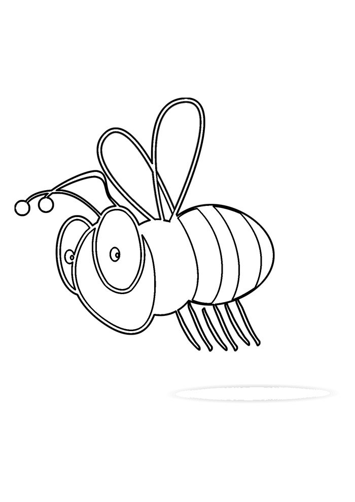 bee coloring page 37