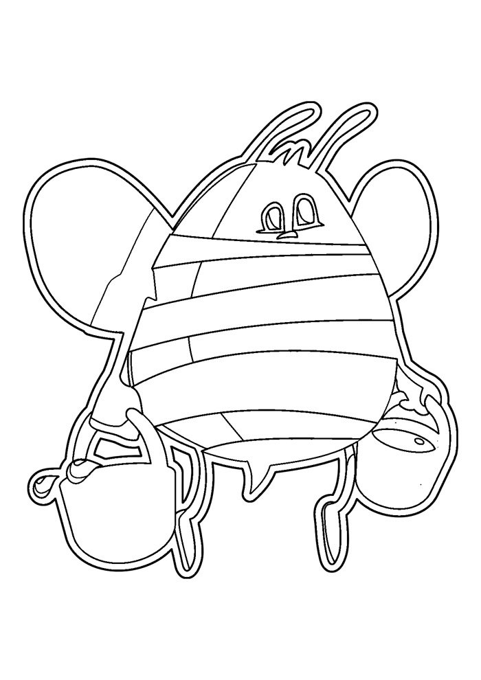 bee coloring page 39