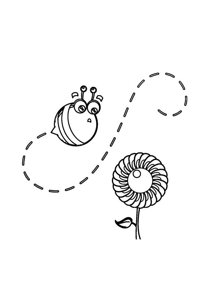 bee coloring page 41