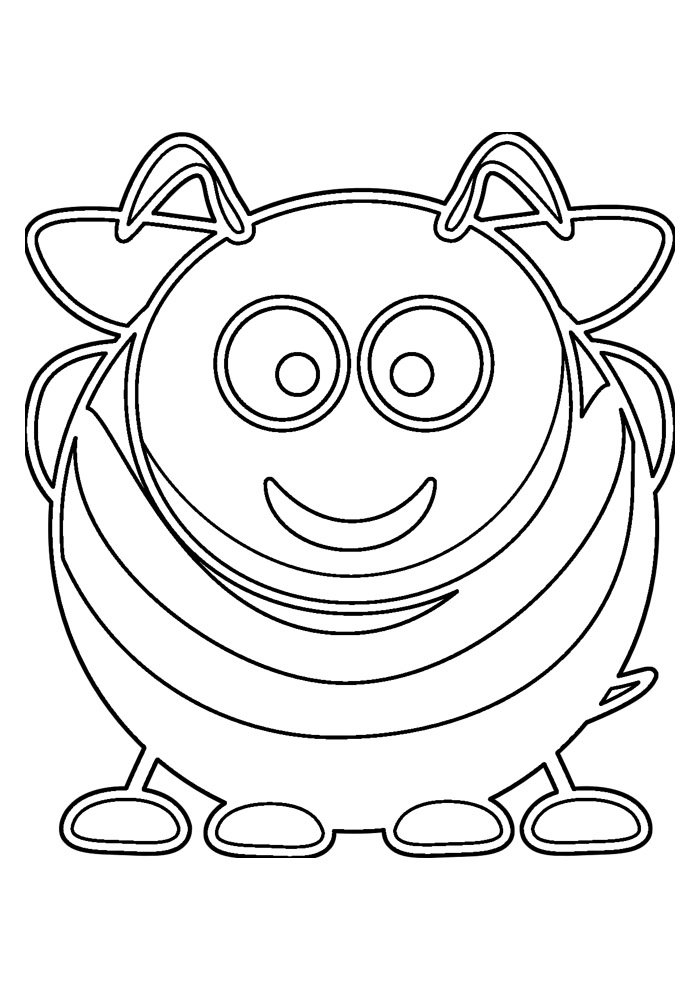 bee coloring page 5
