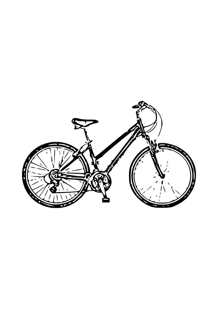 bicycle coloring page 1
