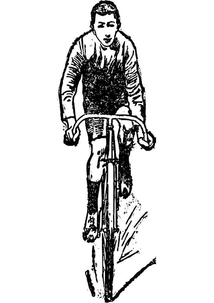 bicycle coloring page 10