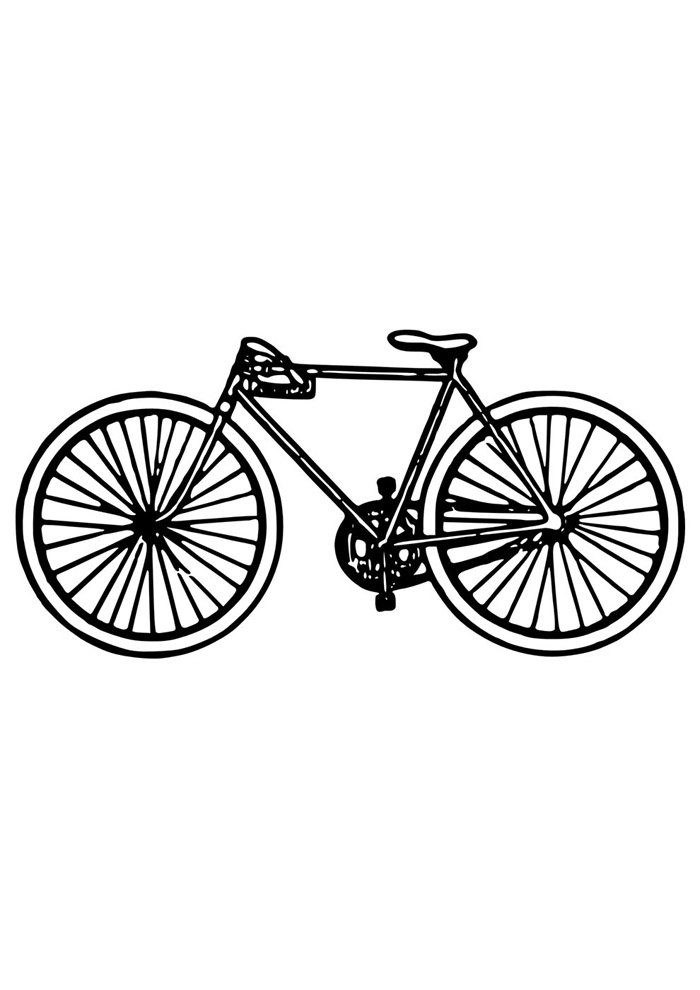 bicycle coloring page 11