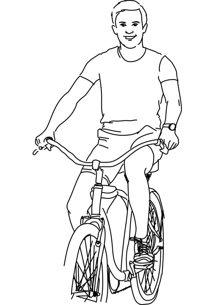 bicycle coloring page 12