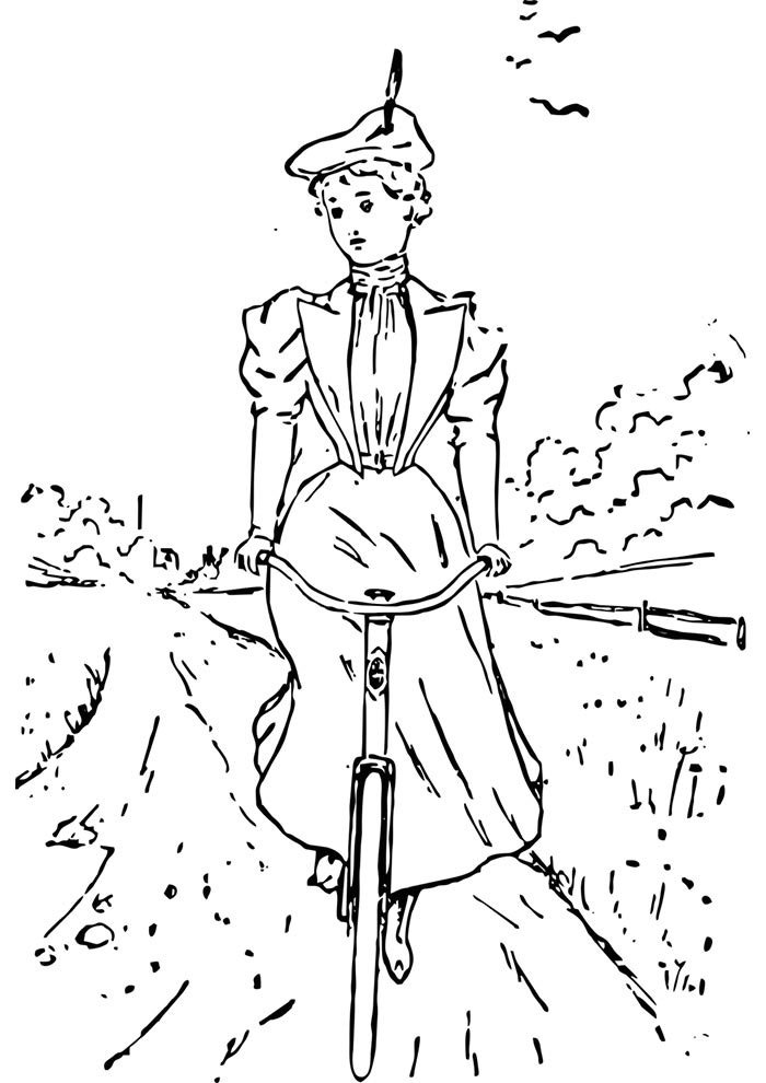 bicycle coloring page 13