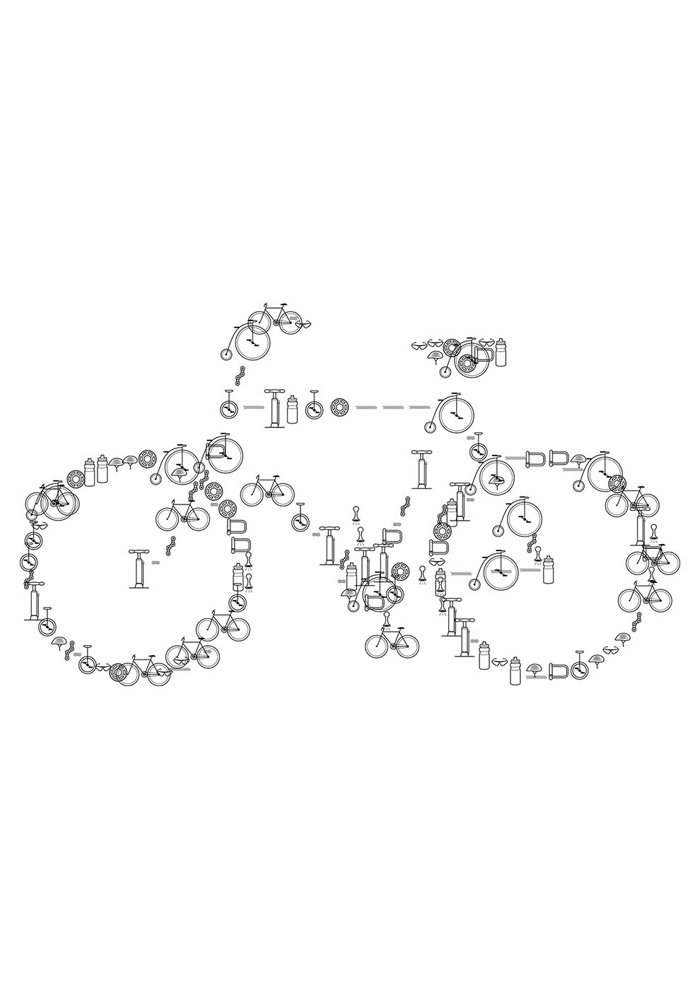 bicycle coloring page 2