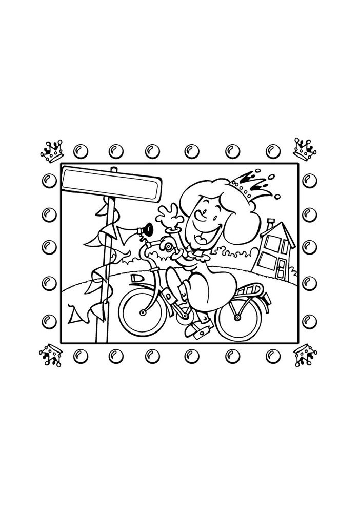 bicycle coloring page 3