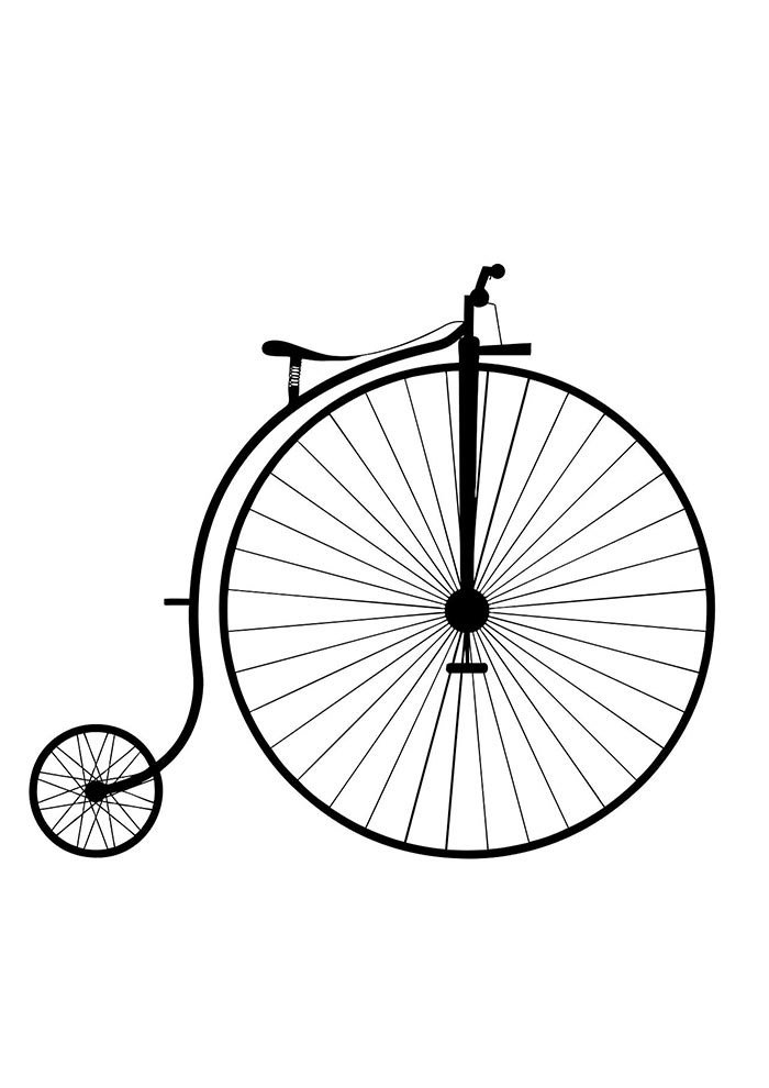 bicycle coloring page 4