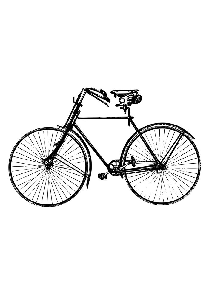 bicycle coloring page 5