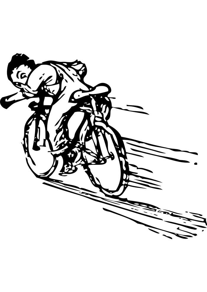 bicycle coloring page 6