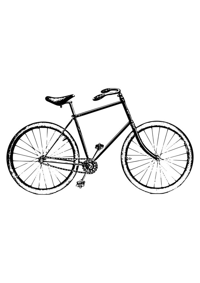 bicycle coloring page 7