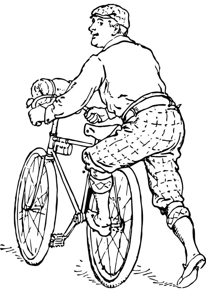 bicycle coloring page 9