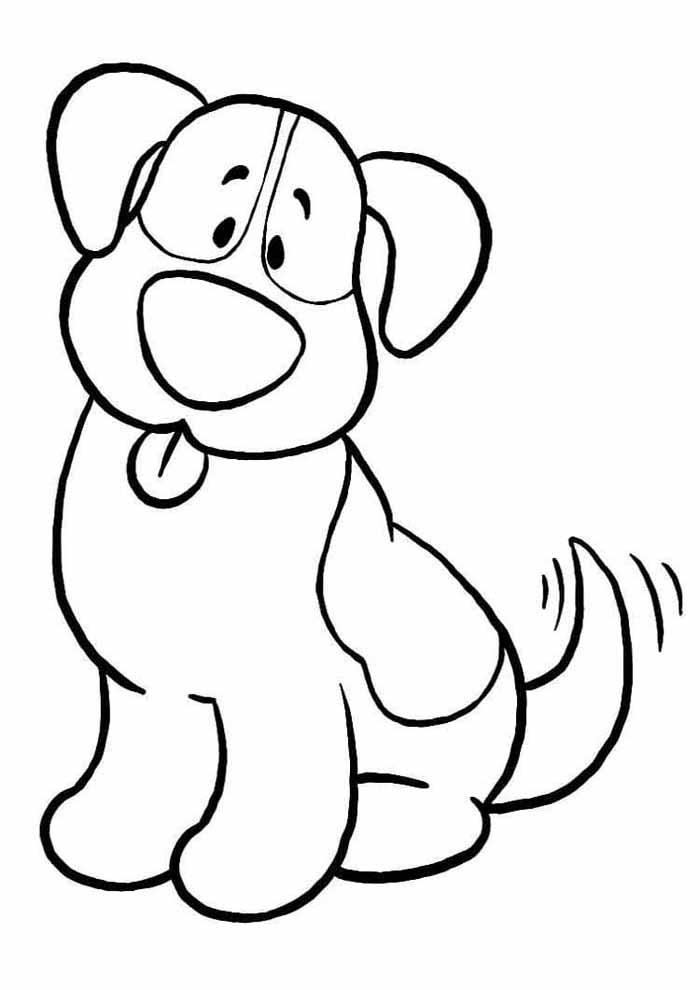 big dog coloring page for kids
