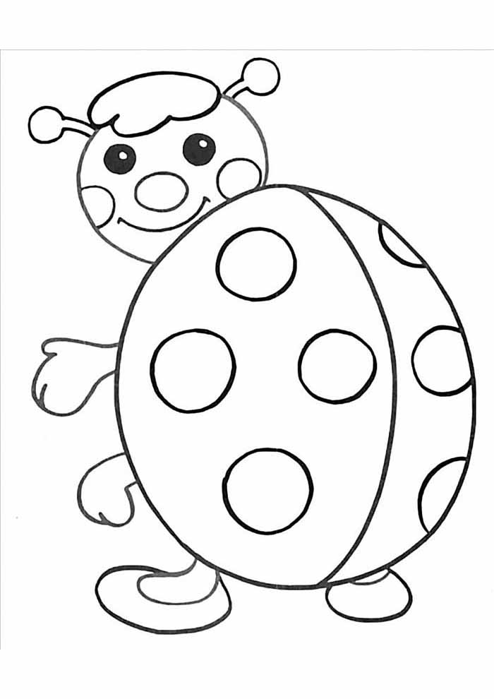 big ladybug coloring page for kids