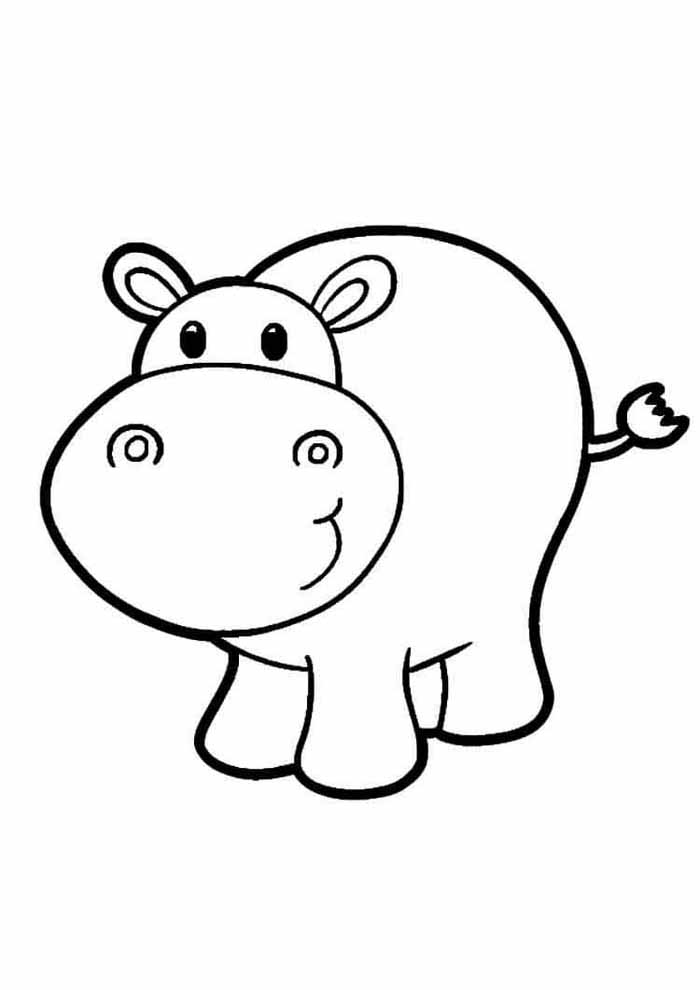 big pig coloring page for kids