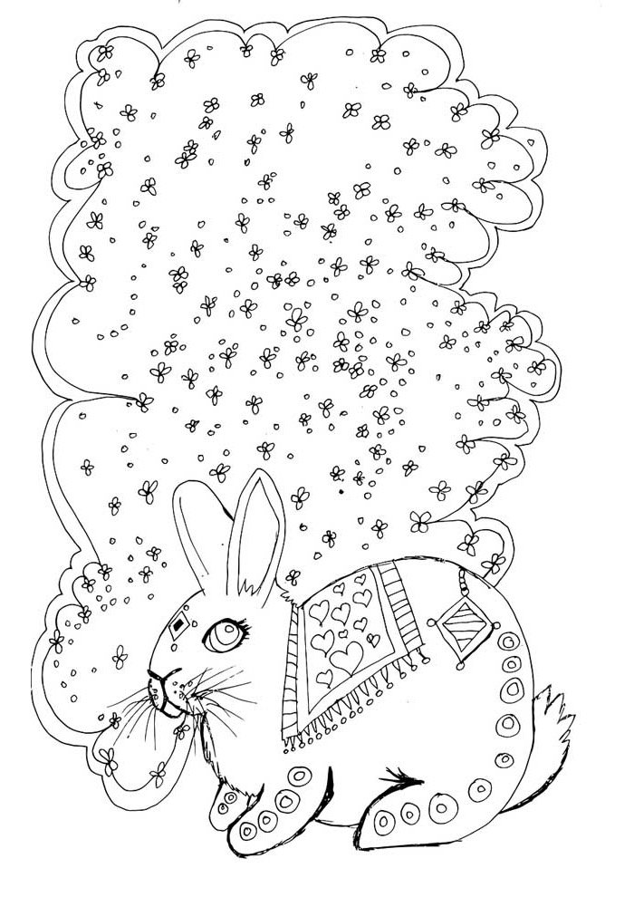 bunny coloring page 24