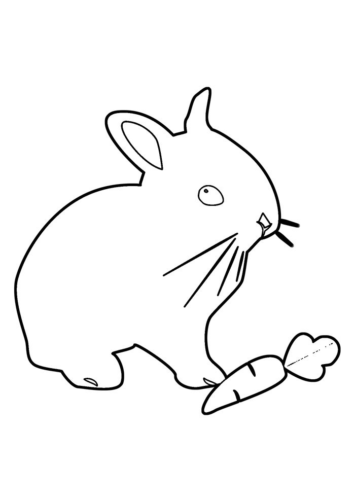 bunny coloring page 35