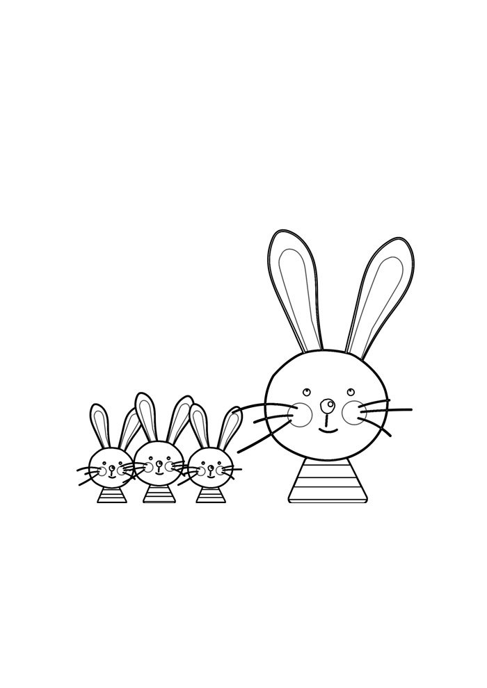 bunny coloring page 38