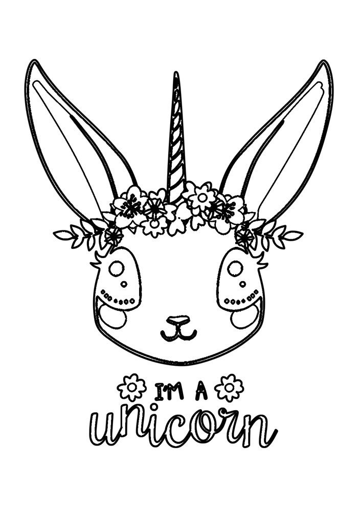 bunny coloring page 49